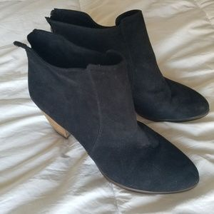 Forever 21 Faux Black Suede Booties